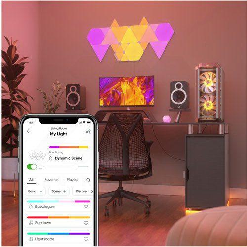 Nanoleaf Shapes Smarter Kit – 5 Light Mini Triangles 4
