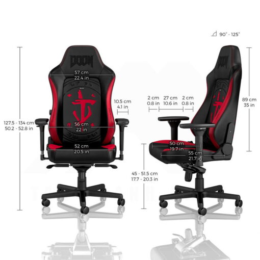 Noblechairs HERO PU Leather Gaming Chair – DOOM Edition 3