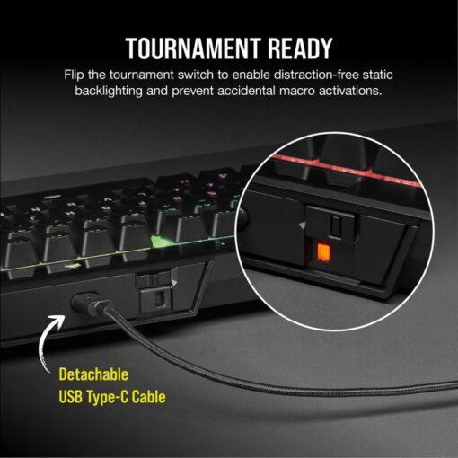 CORSAIR K70 RGB TKL Champion Series Gaming Keyboard 3