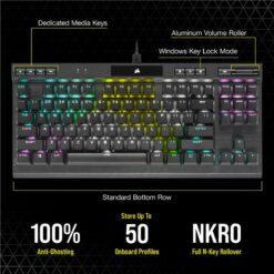 CORSAIR K70 RGB TKL Champion Series Gaming Keyboard 6