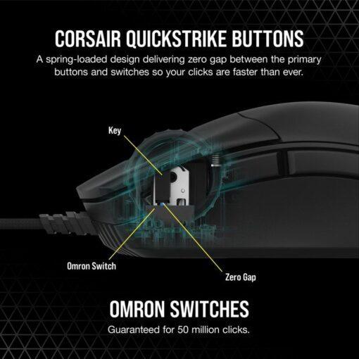 CORSAIR SABRE RGB PRO Gaming Mouse – Black 4