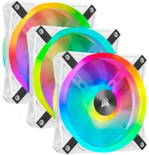 CORSAIR iCUE QL120 White RGB Fan – Triple Pack