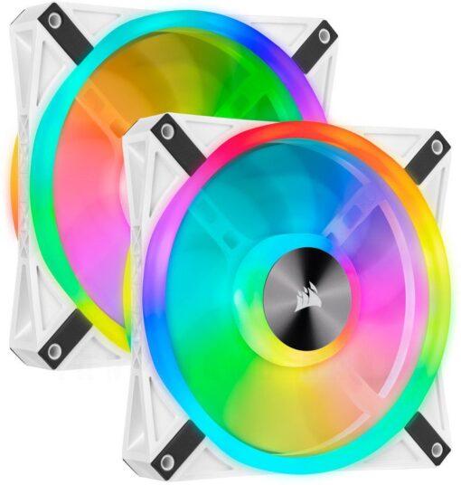 CORSAIR iCUE QL140 White RGB Fan – Twin Pack