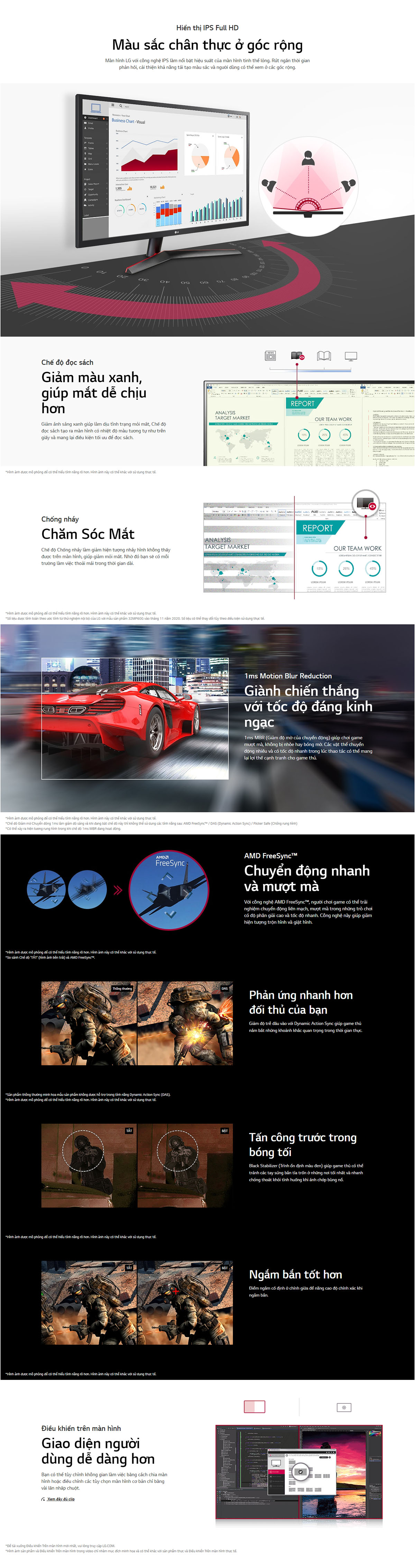 LG 27MP60G B Gaming Monitor Details
