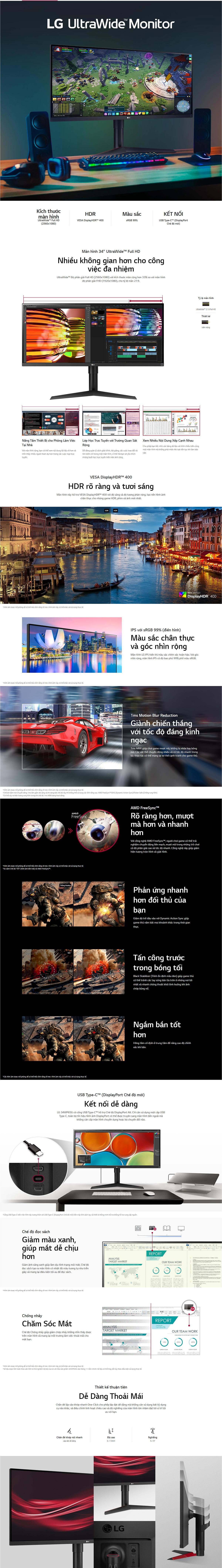 LG UltraWide 34WP65G B Monitor Details