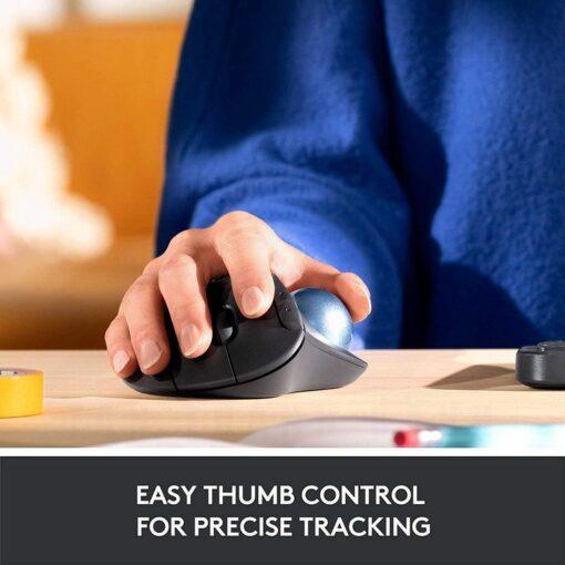 Logitech Ergo M575 Wireless Trackball Mouse – Black 3