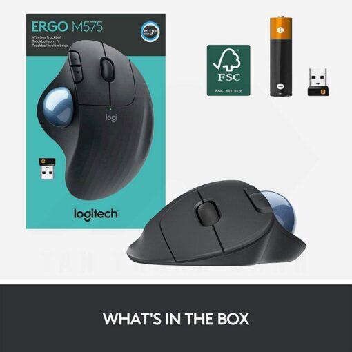 Logitech Ergo M575 Wireless Trackball Mouse – Black 8
