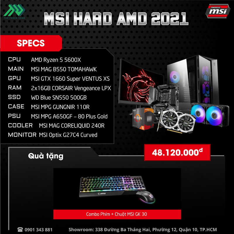MSI Hard AMD 2021 PC – Power By MSI 2