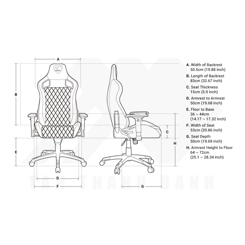 COUGAR Armor S Gaming Chair Specs